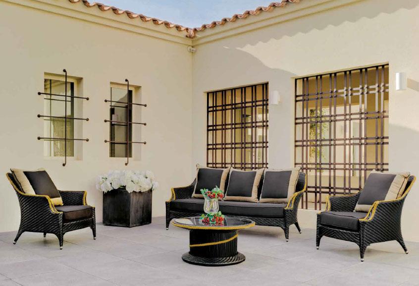 Set muebles de lujo para exteriores black morena mia home - Muebles de exteriores ...