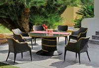 Set de comedor de lujo para exteriores Black Morena - Set de comedor de lujo para exteriores Black Morena
