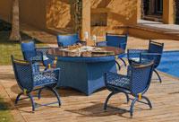 Set de comedor de lujo para exteriores Blue Sanoa - Set de comedor de lujo para exteriores Blue Sanoa