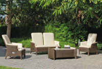 Set muebles de lujo para exteriores Boreal - Set muebles de lujo para exteriores Boreal