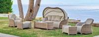 Set muebles de lujo para exteriores Comodoro con dosel - Set muebles de lujo para exteriores Comodoro con dosel