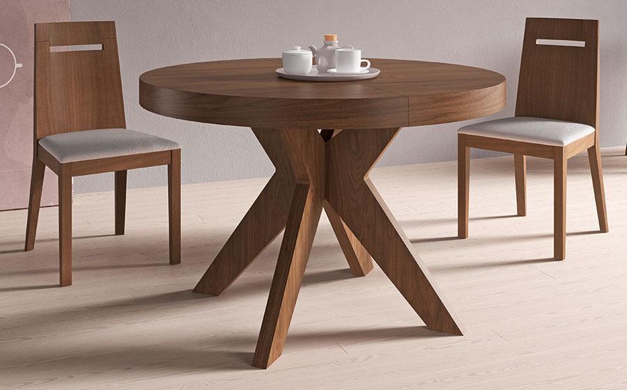 Mia home mesa de comedor extensible roma - Mesas madera extensibles ...