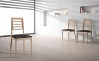 Silla Larissa - Silla Larissa, fabricada en estructura de madera