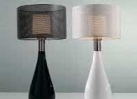 Lámpara de cerámica - Lámpara pantalla metálica