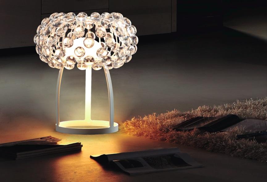 Lámpara de metal/acero - Con bolas acrílicas
