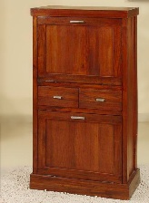Zapatero de madera - Zapatero de madera marrón