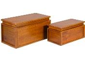 Baúl de madera - Juego de dos baúles de madera