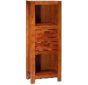 Estantería de madera - Estantería de madera con dos cajones