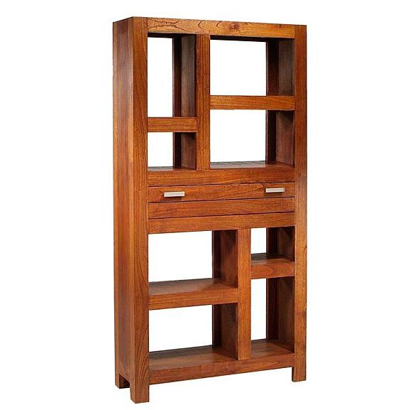 Estantería de madera - Estantería de madera con un cajón