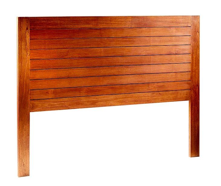 Cabecero de madera - Cabezal de madera color marrón