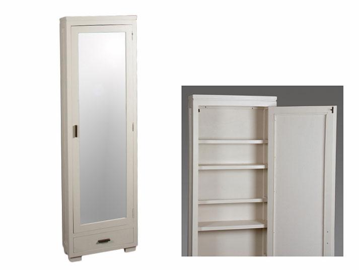Zapatero Blanco con espejo - Zapatero Blanco con espejo