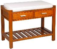 Banqueta de madera - Pie de cama de madera