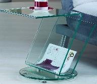 Mesa auxiliar de salón - Mesa auxiliar de salon de cristal