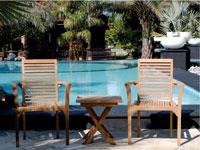Conjunto mesa y sillones Santiago - Conjunto mesa y sillones en  madera de teca