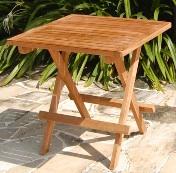 Mesa plegable - Mesa de teca plegable