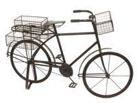 Bicicleta con bandejas - Bicicleta con bandejas, fabricado en hierro con cestas metálicas