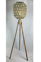 Lámpara de pie de Bambú - Lámpara de pie de Bambú, fabricado en bambú y acero