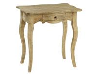 Mesita auxiliar envejecida Pons - Mesita auxiliar envejecida Pons en madera de caucho
