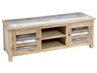 Mesa de TV 2P - Mesa de TV en madera de mindi