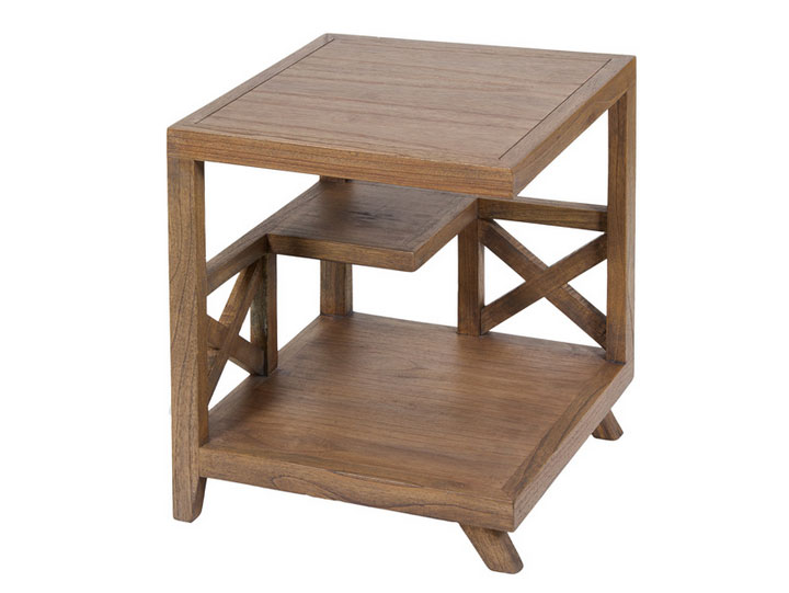 Mesa rinconera Amara - Mesa rinconera Amara en madera de acacia.