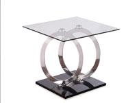 Mesa telefonera Circles acero - Mesa telefonera Circles acero, fabricado en vidrio y acero
