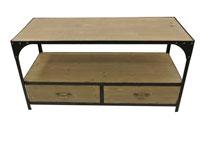 Mesa centro madera y metal - Mesa centro madera y metal rústika