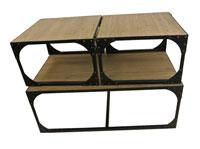 Set 3 mesas centro metal