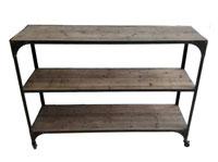Estantería madera y metal 3E - Estantería madera y metal 3E fabricado en Hierro