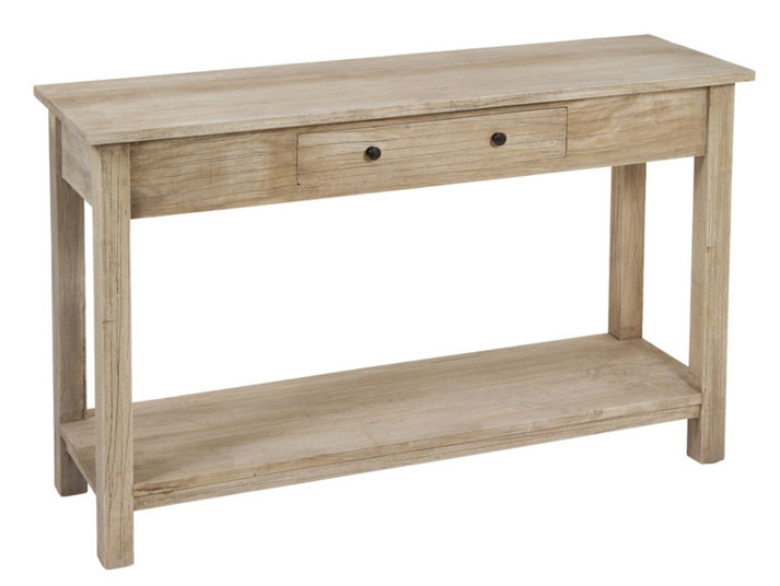 Consola 1 cajón colonial - Consola 1 cajón colonial fabricado en madera de acacia