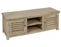 Mesa TV madera envejecida - Mesa TV madera envejecida fabricado en madera de mindi