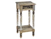 Pedestal 1 cajón decapado - Pedestal 1 cajón decapado fabricado en madera de mindi