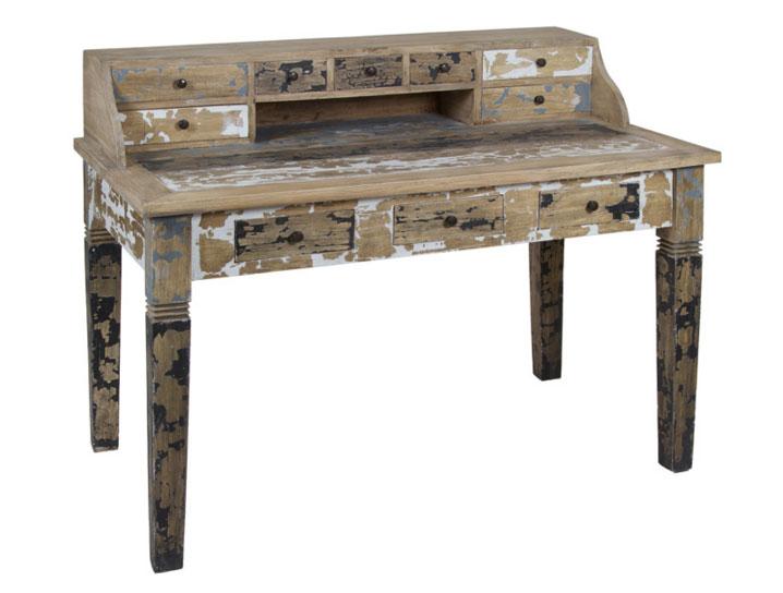 Escritorio madera decapado - Escritorio madera decapado fabricado en madera de mindi