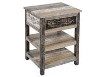 Mesita 2 estantes decapada - Mesita 2 estantes decapada en madera de mindi