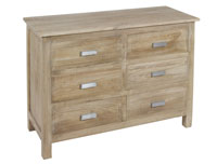 Cómoda madera envejecida - Cómoda madera envejecida fabricada en madera de mindi
