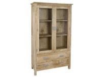 Vitrina 2 puertas madera - Vitrina 2 puertas madera de mindi