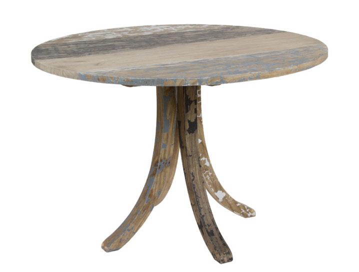 Mesa redonda de madera decapada mia home for Mesa redonda madera