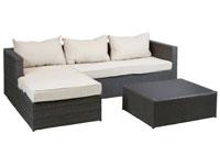 Conjunto de tres piezas y mesa - Conjunto de tres piezas y mesa