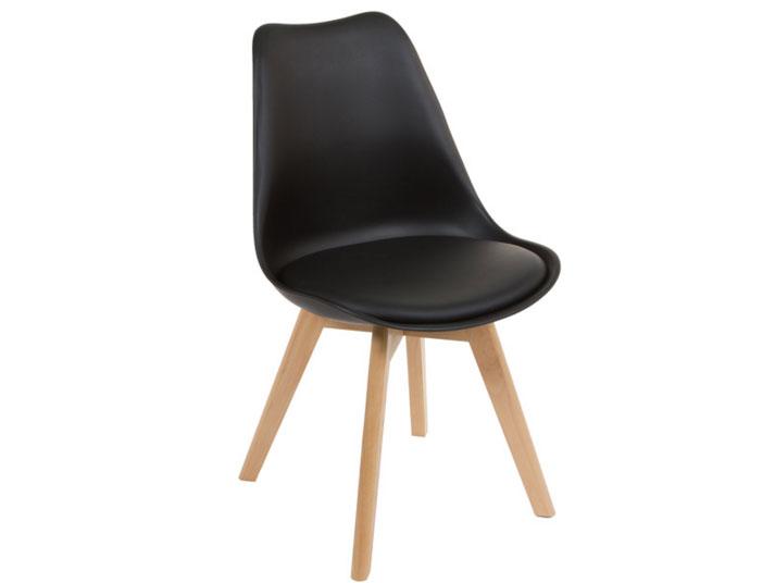 Silla con pies de madera - Silla con pies de madera fabricado en madera de acacia
