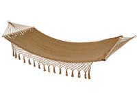 Hamaca para colgar marrón - Hamaca para colgar marrón, fabricado en acero cuerda de algodón y poliester