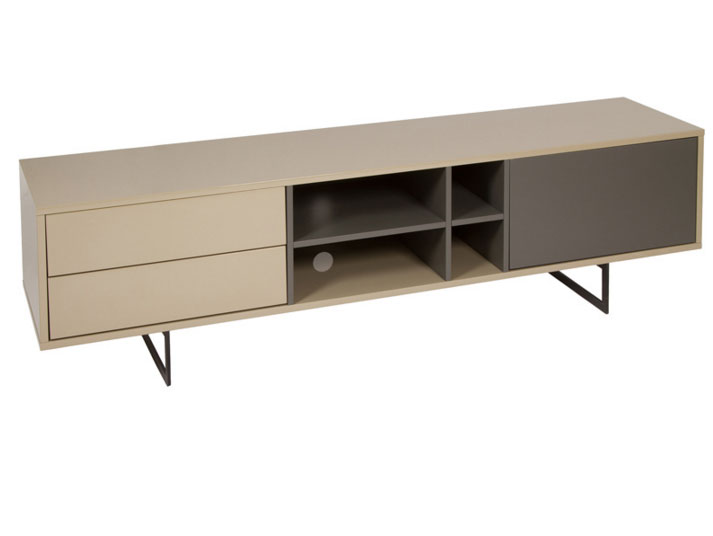 Mueble tv liv moka gris mia home for Mueble tv lacado