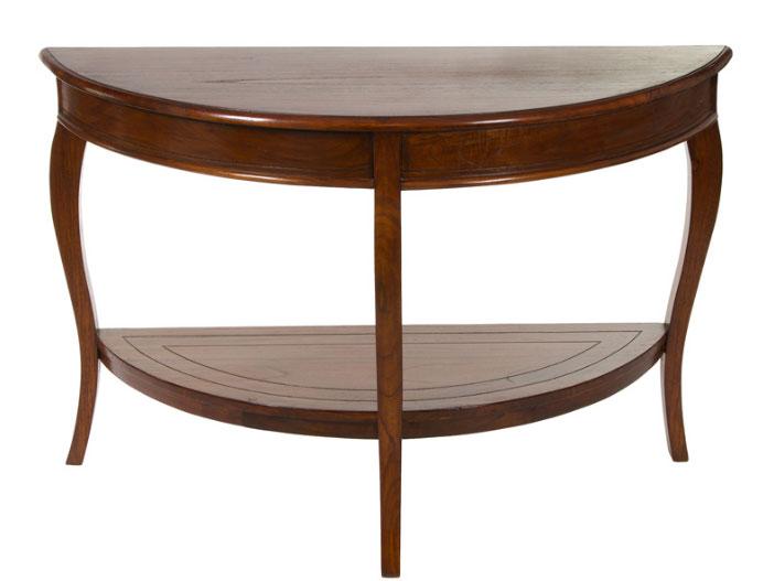 Consola medialuna - Consola medialuna fabricado en  madera de acacia