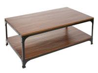 Mesa centro madera y metal - Mesa centro madera y metal fabricado en madera de acacia
