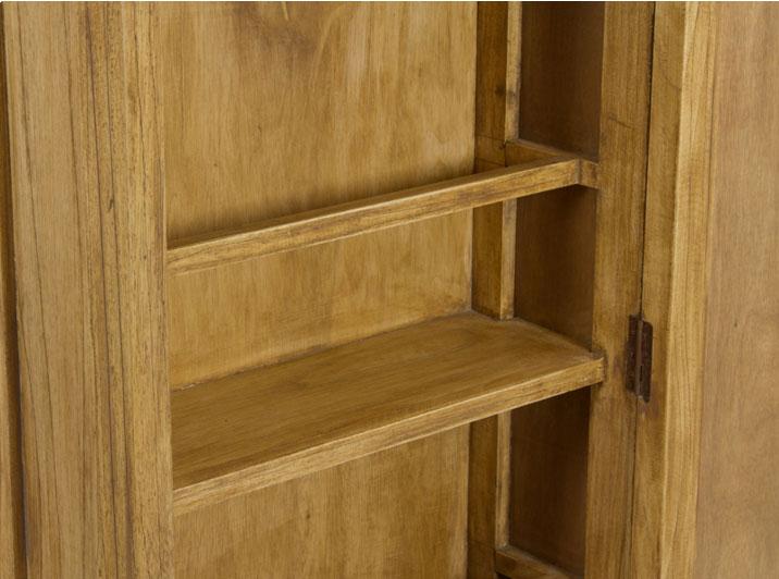 Zapatero con espejo IOS - Zapatero con espejo IOS fabricado en madera de acacia