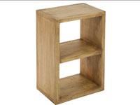 Estantería 2 módulos IOS - Estantería 2 módulos IOS fabricado en madera de acacia