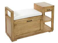Banco baúl IOS -  Banco baúl IOS fabricado en madera de acacia