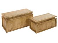 Set 2 baúles IOS - Set 2 baúles IOS fabricado en madera de acacia