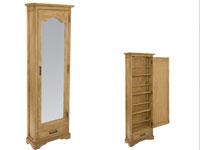 Zapatero con espejo IOS - Zapatero con espejo IOS fabricada en madera de acacia