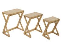 Mesas nido Z IOS - Mesas nido Z IOS fabricado en madera de mindi