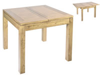 Mesa extensible IOS 90 - Mesa extensible IOS 90 fabricado en madera de acacia