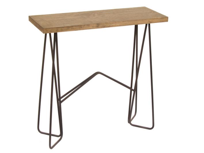 Consola Florence - Consola Florence, fabricado en madera de abeto y forja